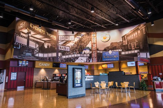 Retail - Movie Theatre-Digital Vinyl Mural-Lobby